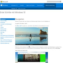 Neue Funktionen von Windows 10 - Windows-Hilfe