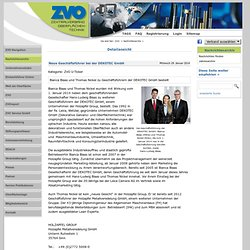 Neue Geschäftsführer bei der DEKOTEC GmbH - zvo.org