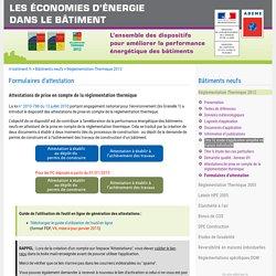 RT neuf 2012 : Formulaires d'attestation