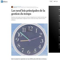 Les neuf lois principales de la gestion du temps
