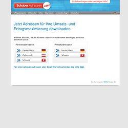 Adressen ONLINE: Firmenadressen und Privatadressen für Ihre Neukundengewinnung