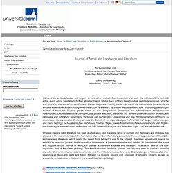 Neulateinisches Jahrbuch — Universität Bonn
