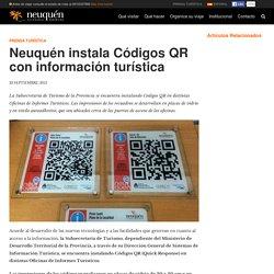 Neuquén instala Códigos QR con información turística