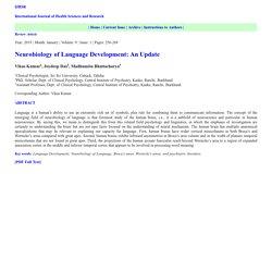Neurobiology of Language Development: An Update