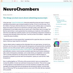 NeuroChambers: The things you hate most about submitting manuscripts