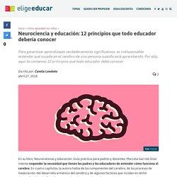 Neurociencia y educación: 12 principios que todo educador debería conocer