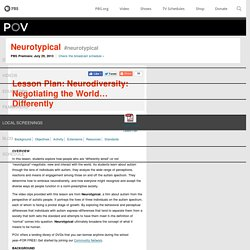 Lesson Plan: Neurodiversity: Negotiating the World… Differently