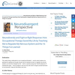 Neurodiversity and Fight-or-flight Response: How Occupational Therapy Saved M...