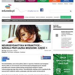 Neurodydaktyka w praktyce – szkoła przyjazna mózgowi.
