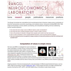 Rangel Neuroeconomics Laboratory