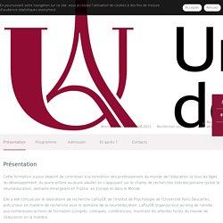DU Neuroéducation - Ametys Campus - UParis