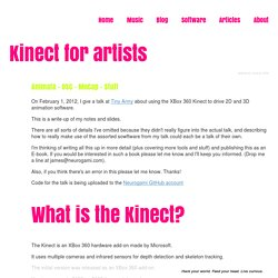 Kinect for artists