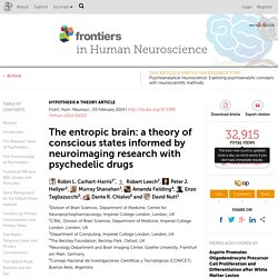 The entropic brain: a theory of conscious states informed by neuroimaging research with psychedelic drugs