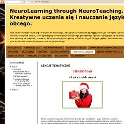 NeuroLearning through NeuroTeaching. Kreatywne uczenie się i nauczanie języka obcego. : LEKCJE TEMATYCZNE