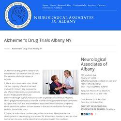 Alzheimer's Drug Trials Albany NY