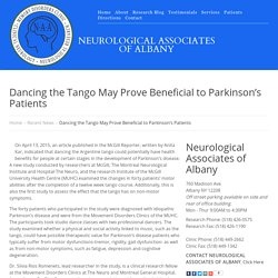 Dancing the Tango May Prove Beneficial to Parkinson's Patients