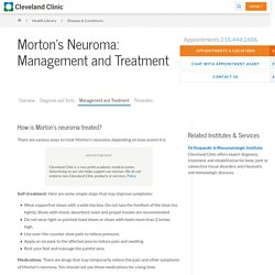 Morton's Neuroma Management and Treatment
