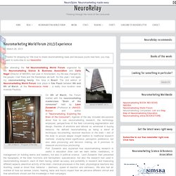 Neuromarketing World Forum 2013 Experience