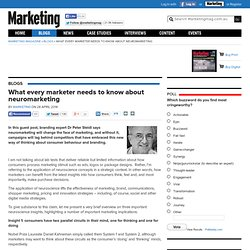 What every marketer needs to know about neuromarketing
