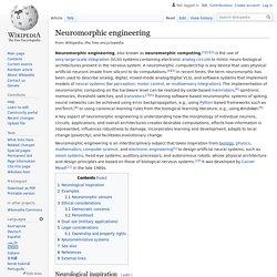 Neuromorphic engineering