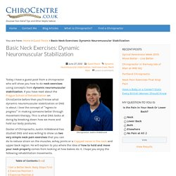Basic Neck Exercises: Dynamic Neuromuscular Stabilization : ChiroCentre UK