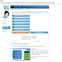 The Free Brain Training Community - Play online brain games for free - Online games