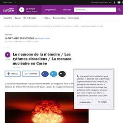 Le neurone de la mémoire / Les rythmes circadiens / La menace nucléaire en Corée
