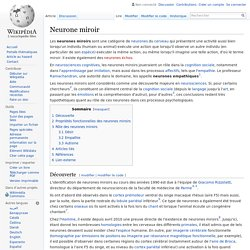 Synchronicit evolution et neurones miroirs pearltrees for Miroir wikipedia