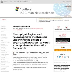 Neurophysiological and neurocognitive mechanisms underlying the effects of yoga-based practices: towards a comprehensive theoretical framework