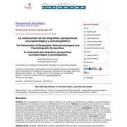 The Reeducation of Dysgraphia: Neuropsychological and Psycholinguistic Perspectives