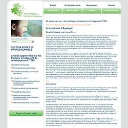 Les troubles envahissant du développement (TED) chez l'enfant autiste ou Asperger
