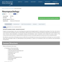 Neuropsychology course