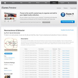 Neuroscience & Behavior - Download free content from MIT