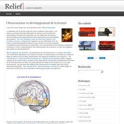 Neuroscience et développement de la lecture