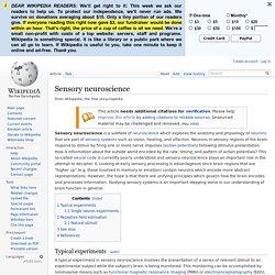 Sensory neuroscience