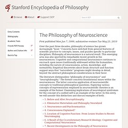 The Philosophy of Neuroscience