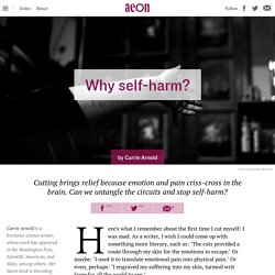 How neuroscience explains the urge to self-harm – Carrie Arnold