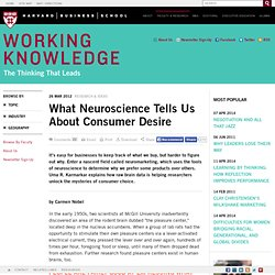 What Neuroscience Tells Us About Consumer Desire