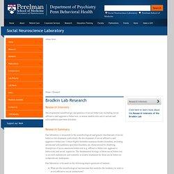 Social Neuroscience Laboratory: Research