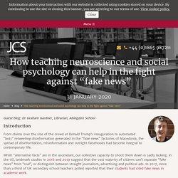 Fighting fake news by teaching neuroscience & social psychology (2020)
