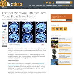 Criminal Minds Are Different From Yours, Brain Scans Reveal