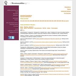 Auditory Neuroscience Laboratory Publications