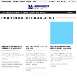 Neuroscience News - Neuroscience Research Neuroscience Labs Neuroscience Jobs Neuroscience Books Reviews Neuroscience Forums Social Network