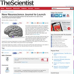 New Neuroscience Journal to Launch