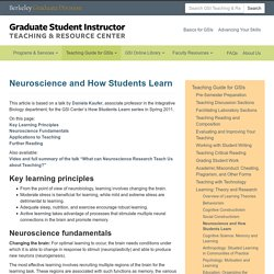Neuroscience and How Students Learn