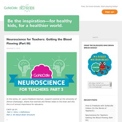 Neuroscience for Teachers: Getting the Blood Flowing (Part III)