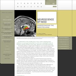 Neuroscience of need - Understanding the addicted mind - 2012 SPRING