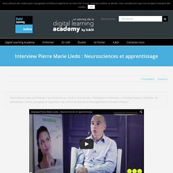 Interview Pierre Marie Lledo : Neurosciences et apprentissage