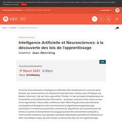 Calendar: Intelligence Artificielle et Neurosciences: à la découverte des lois de l'apprentissage