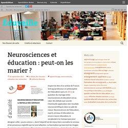 Neurosciences et éducation : peut-on les marier ?